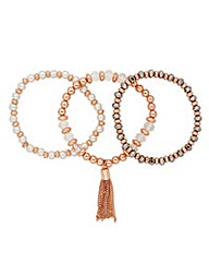 Jon Richard Rose Gold Bracelet Set