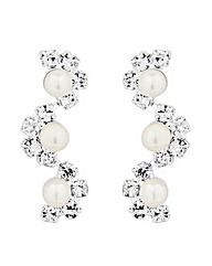Jon Richard Pearl Diamante Drop Earring