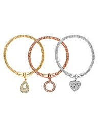 Jon Richard Stretch Mesh Charm Bracelets