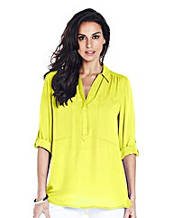 Lime Soft Utility Blouse