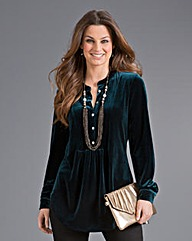 Top to Toe Velour Blouse