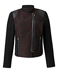 Petite Textured Biker Jacket