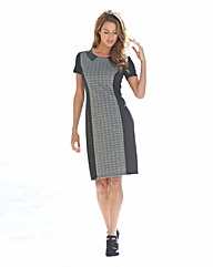 Textured Jacquard Illusion Panel dress