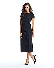 Petite Side Tie Jersey Dress