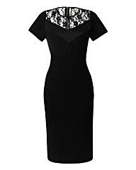 MAGISCULPT Dress With Lace Trim