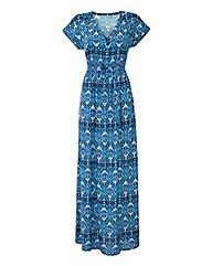 Kimono Sleeve Print maxi Dress