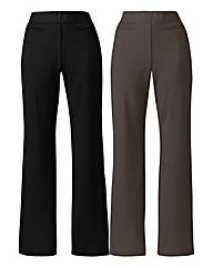 Pack 2 Straight-Leg Trousers Short