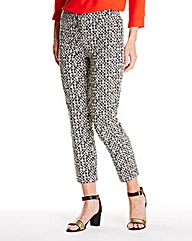 Circle Print Ankle Grazer Trouser