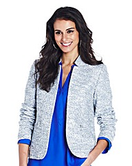 Zip Boucle Textured Jacket