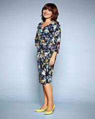 LK Print Wrap ITY Dress