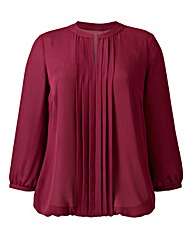 Pleat-Detail Blouse