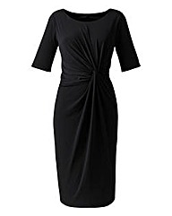 Plain Black Twist Knot Dress