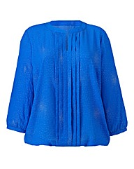Pleat Detail Blouse With Glitter