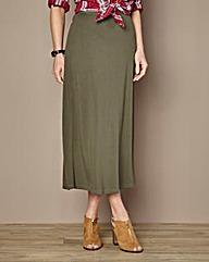 Jersey Column Maxi Skirt