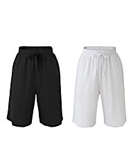 Pack of Two Pull On Shorts