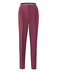 Crepe Peg Zip Trouser 29in