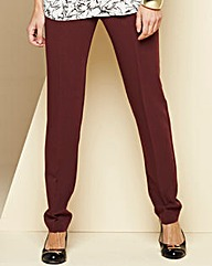 Crêpe Peg Zip Stretch Trousers - Regular