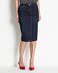 Magisculpt Denim Pencil Skirt