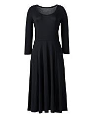 Plain Jersey Midi Dress