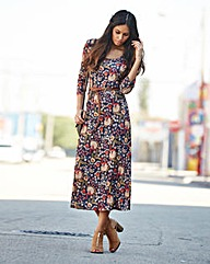 Jersey Paisley Midi Dress 45in