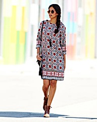Tile Print Tunic Dress