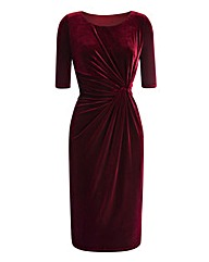 Velour Twist-Front Dress