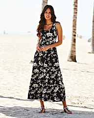 Petite Floral Print Jersey Dress 47in