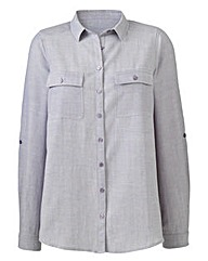 Chambray Shirt Blouse