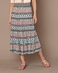 Cotton Woven Maxi Skirt 31in