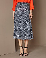 Jersey Print Panelled Maxi Skirt 35IN