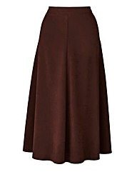 Suedette Midi Skirt