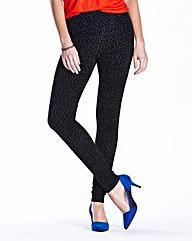 Flocked Print Fashion Legging 28in