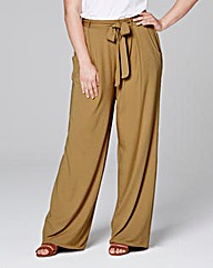 Jersey Wide Leg Trousers Short