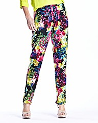 Woven Print Tapered Trousers 27in