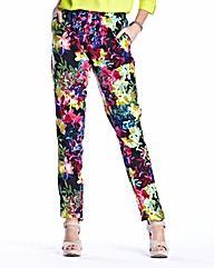 Woven Print Tapered Trousers 29in