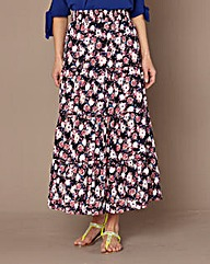 Cotton Woven Maxi Skirt 35in