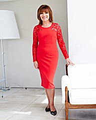 Lorraine Kelly Lace Sleeve Insert Dress