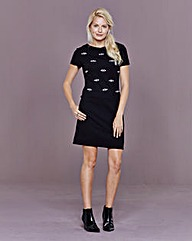 Jewel Trim Shift Dress