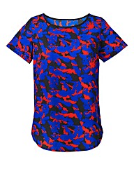 Printed Blouse With Shaped Hem