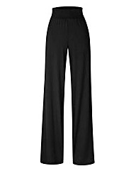Wide Leg Jersey Trousers 27in
