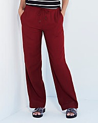 Linen-Mix Trousers - Extra Short