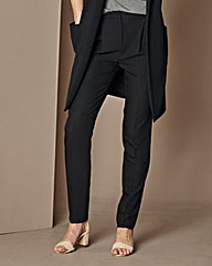 Crêpe Peg Zip Stretch Trousers - Short