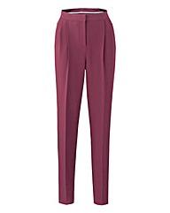 Crepe Peg Zip Stretch Trousers - Short