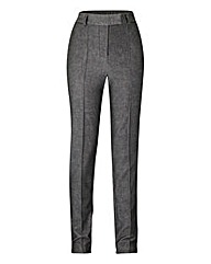 Slim Leg Pintuck Detail Trouser