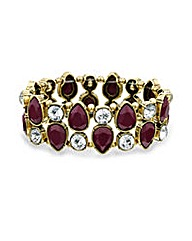 Mood Burgundy teardrop crystal bracelet
