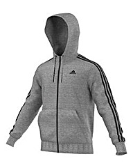 adidas 3 Stripe Full Zip Hooded Tracktop