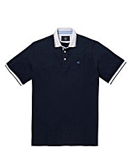 Hackett Mighty Mix Woven Trim Polo Shirt