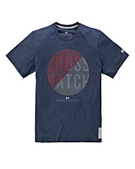 Crosshatch Grooves Indigo T-shirt