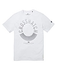 Crosshatch Sunrise White T-Shirt