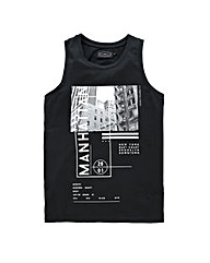 Label J City Print Vest Long Length